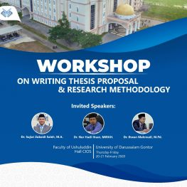 Workshop on Writing Thesis Proposal and Research Methodology